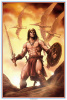 """THE BARBARIAN"" SIGNED COLOR PRINT. Tim's tribute to the barbarian heroes of literature."
